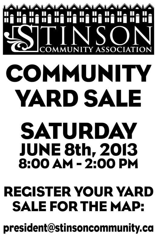 Community Yard Sale!  Clear out and profit!