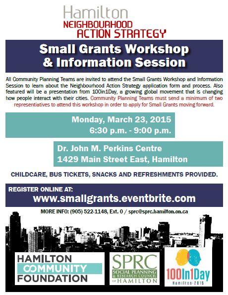 small Grants Workshop 1