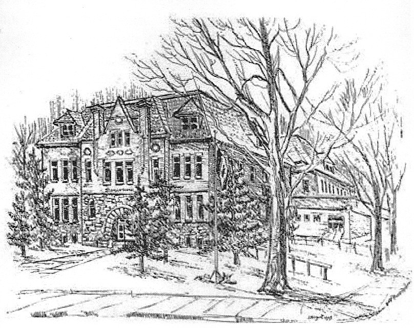 Sketch of Stinson Street School by John Nugent